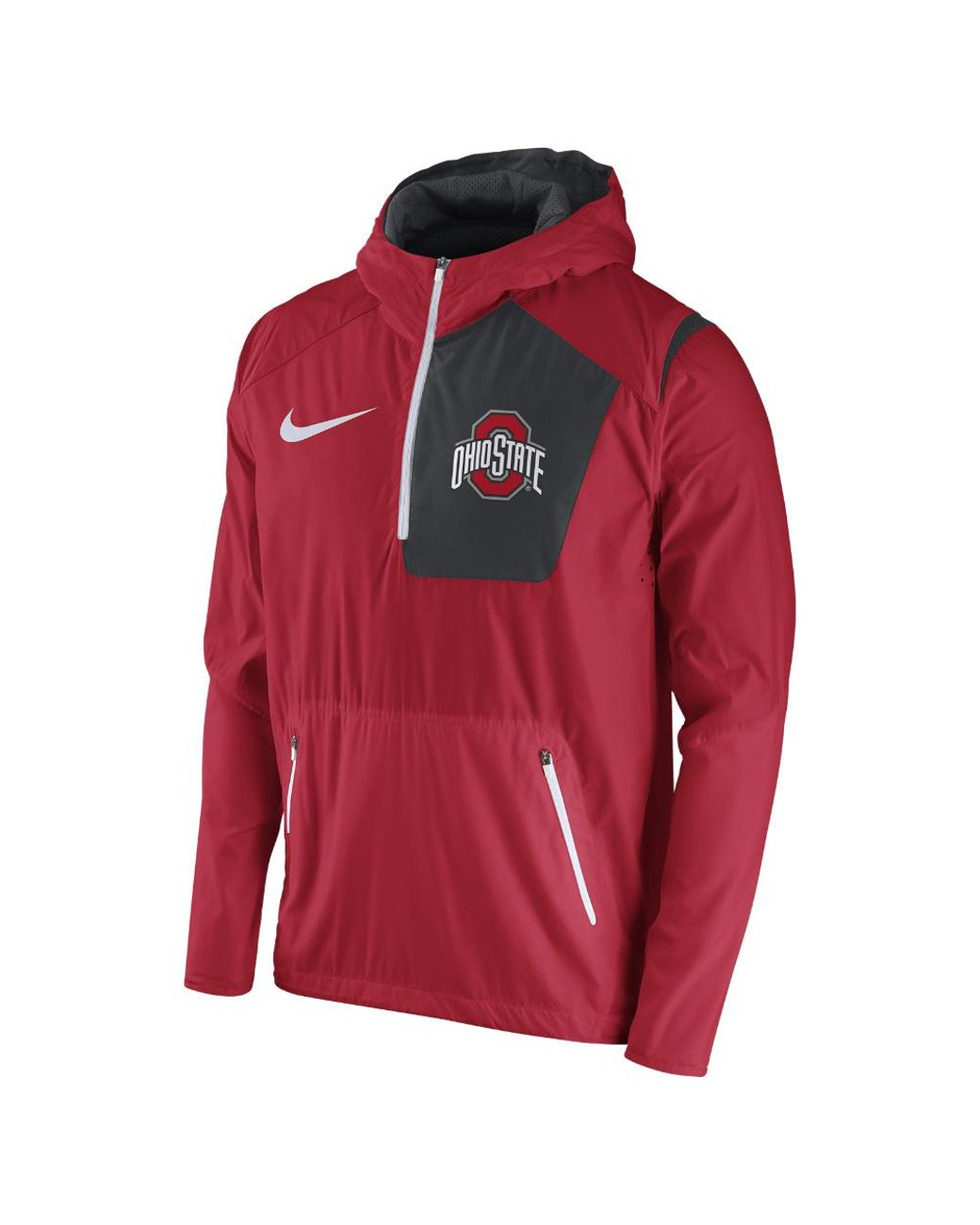 ade9f75e000 Lyst - Nike College Vapor Fly Rush (ohio State) Men s Football Jacket in  Red for Men - Save 20%