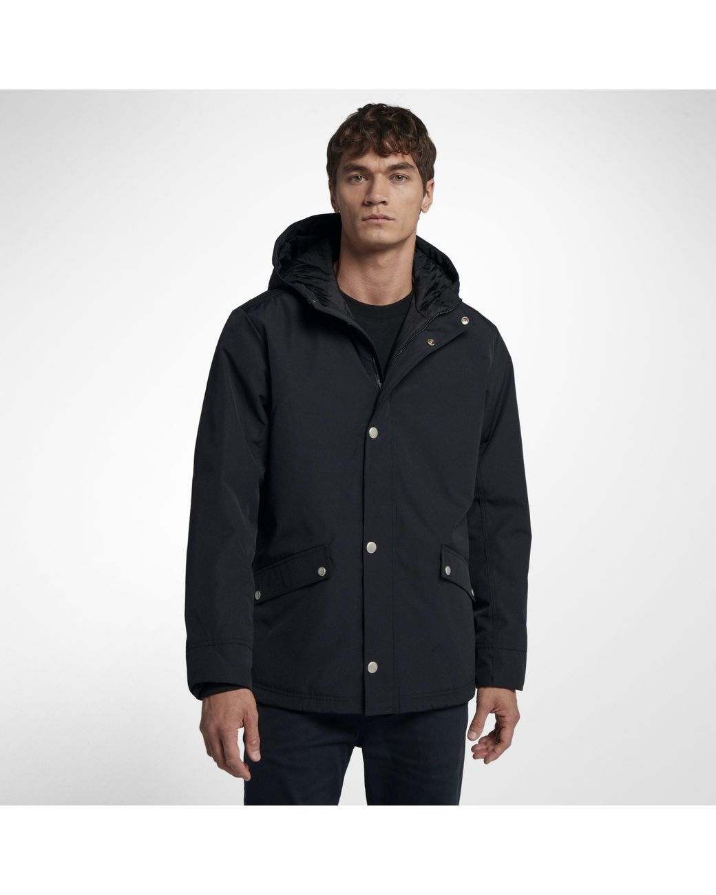 21538f081296 Nike Hurley Timber Hooded Jacket in Black for Men - Lyst