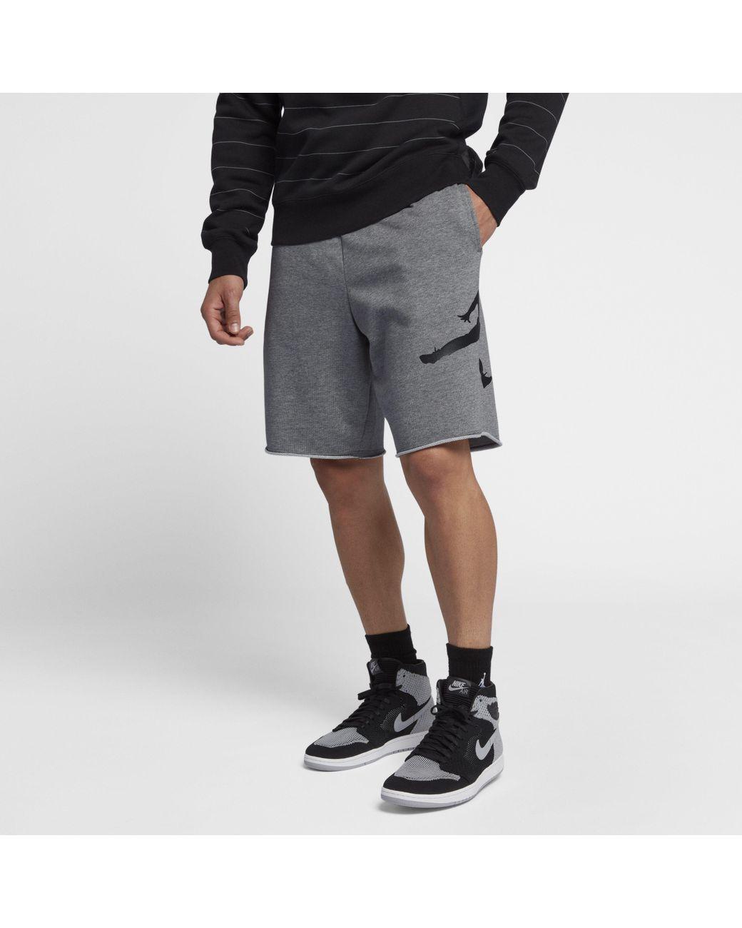 132d625b2f2 Nike Jordan Jumpman Logo Fleece Shorts in Gray for Men - Lyst