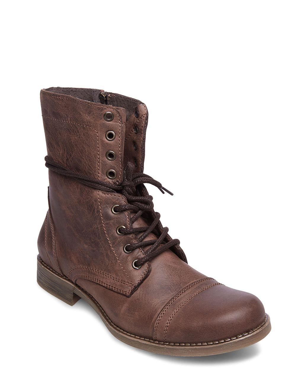 3cd0a6f184e Lyst - Steve Madden Troopah-c Cap Toe Boot in Brown for Men