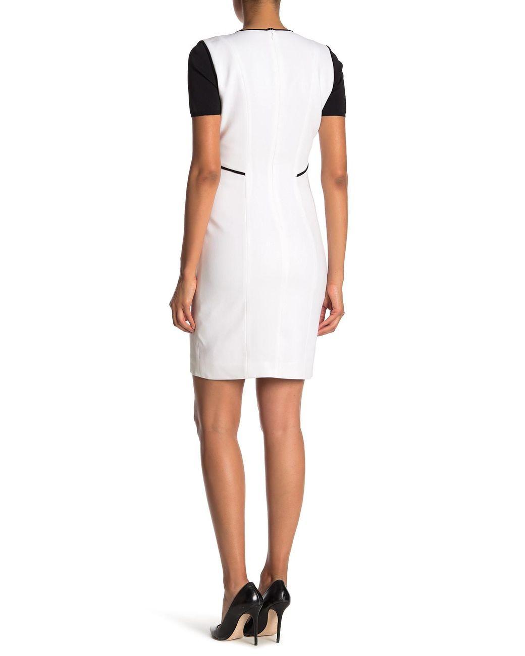 e5b2555d3dd11 Elie Tahari Nixie Keyhole Sheath Dress in White - Save 6% - Lyst