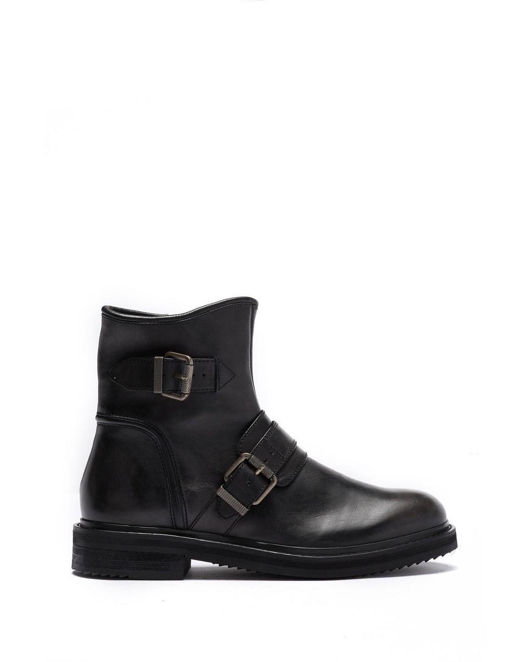 38895a1d0d272 Men's Black Cooper Moto Buckle Boot