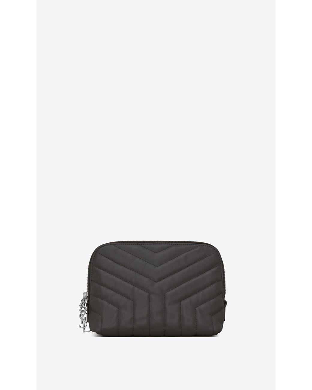 259b437d146 Lyst - Saint Laurent Loulou Makeup Bag in Gray