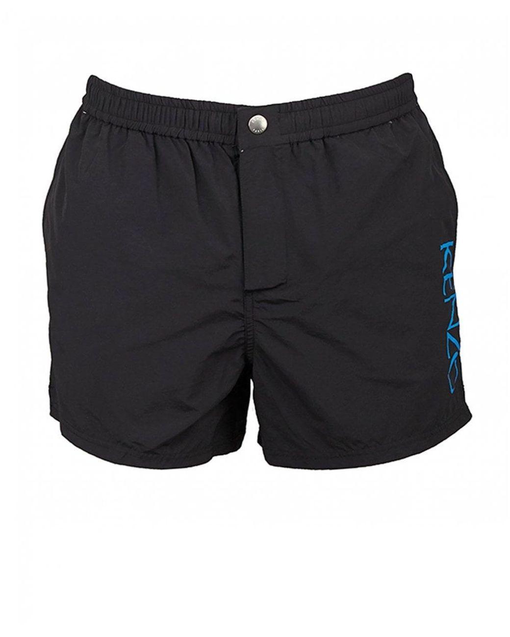 45e725e5 KENZO Side Logo Swim Shorts in Black for Men - Lyst