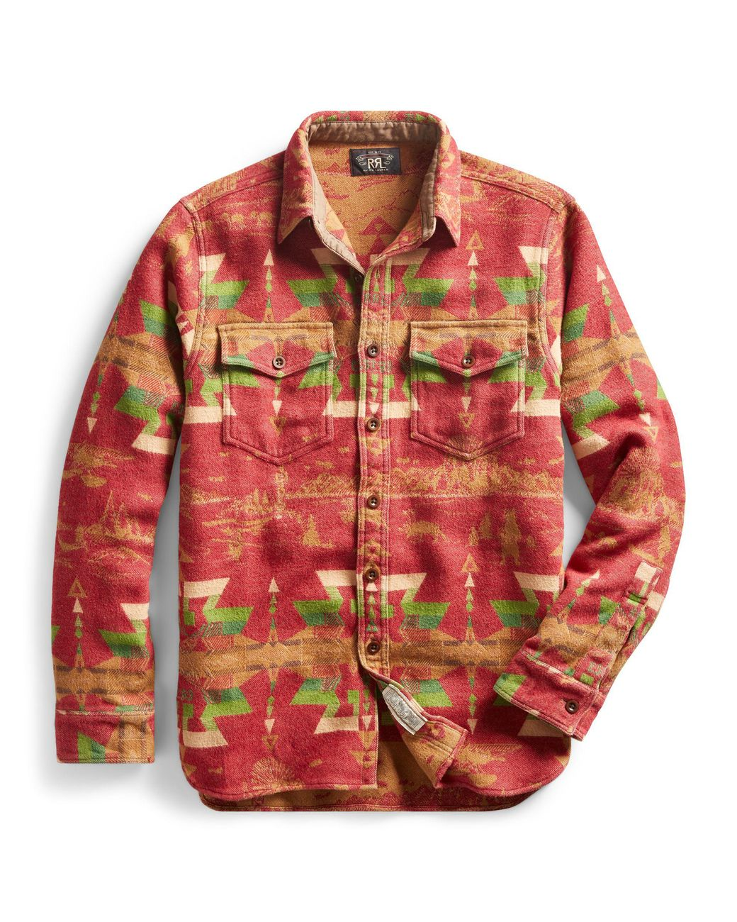 92a8287d Long-Touch to Zoom. RRL - Red Brushed Jacquard Utility Shirt for Men - Lyst