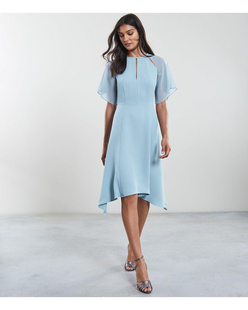 cf3e67cd00 Reiss Tavia - Asymmetric Midi Dress in Blue - Lyst