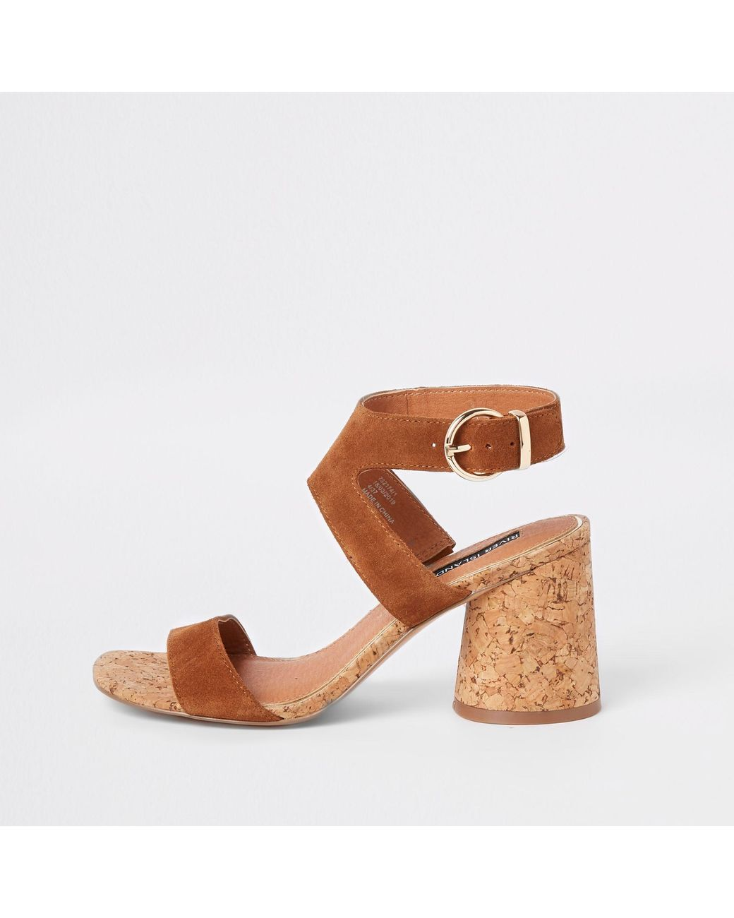 c50dc84c8a0 Long-Touch to Zoom. Long-Touch to Zoom. 1  2. River Island - Brown Suede  Round Block Heel Sandals ...