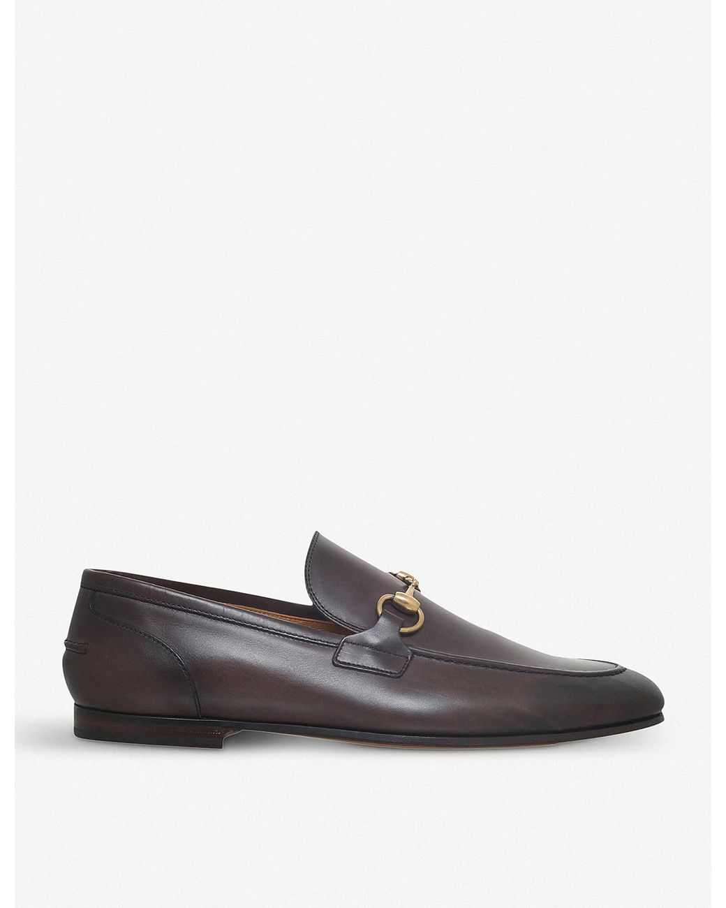 e248c3735cd Long-Touch to Zoom. Gucci - Brown Jordaan Leather Loafers ...