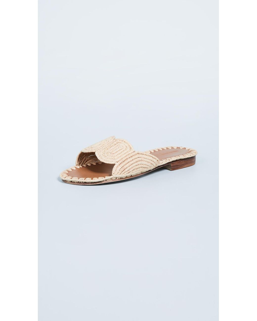 7597bfbded75 Lyst - Carrie Forbes Naima Slides in Natural