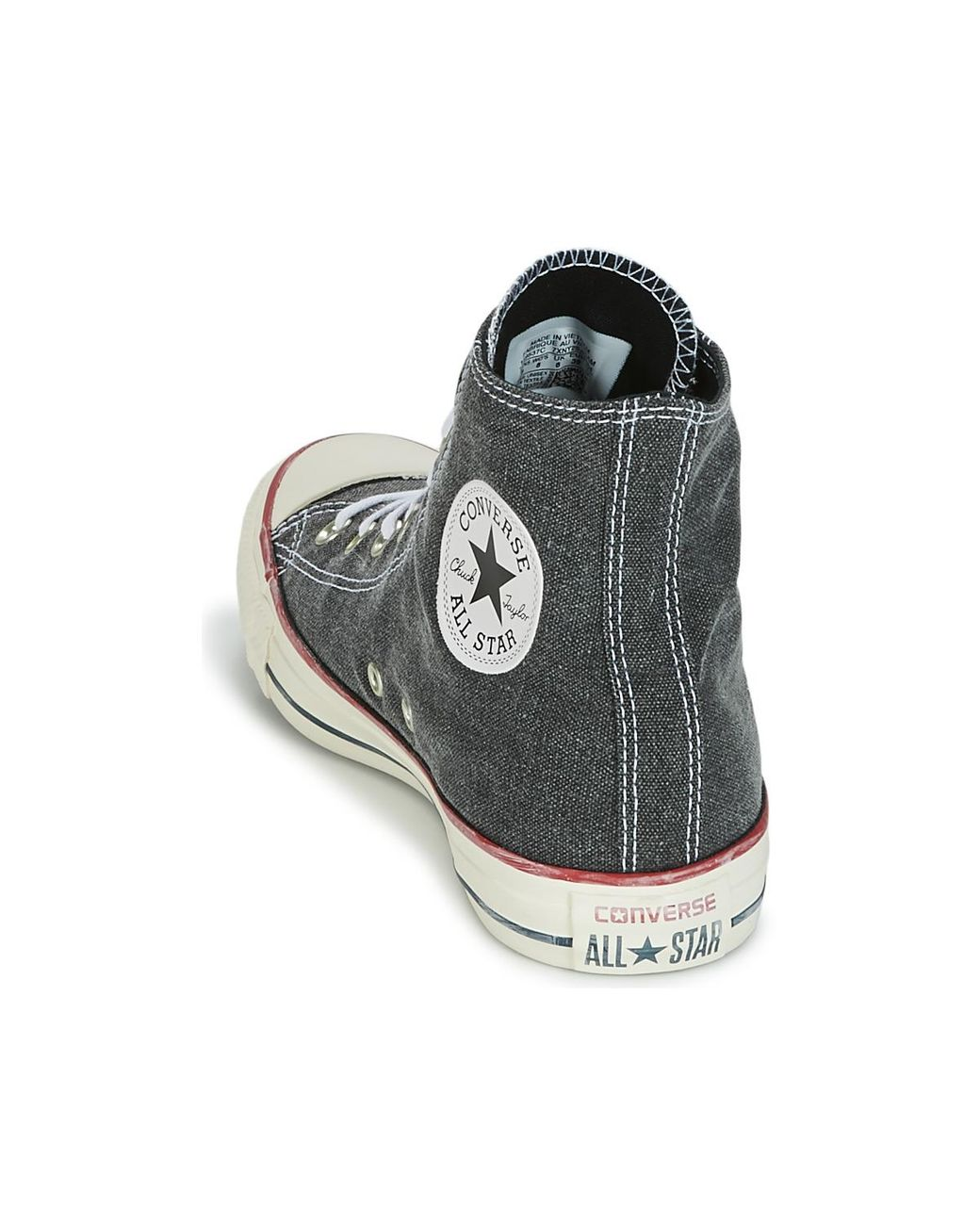 c3b3468d2729 Converse Chuck Taylor All Star Hi Stone Wash Women s Shoes (high-top  Trainers) In Grey in Gray - Lyst