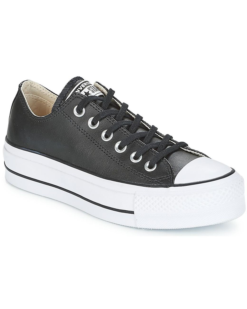 7dc8f454d52d Converse. Women s Black Chuck Taylor All Star Lift Clean Ox Shoes (trainers)