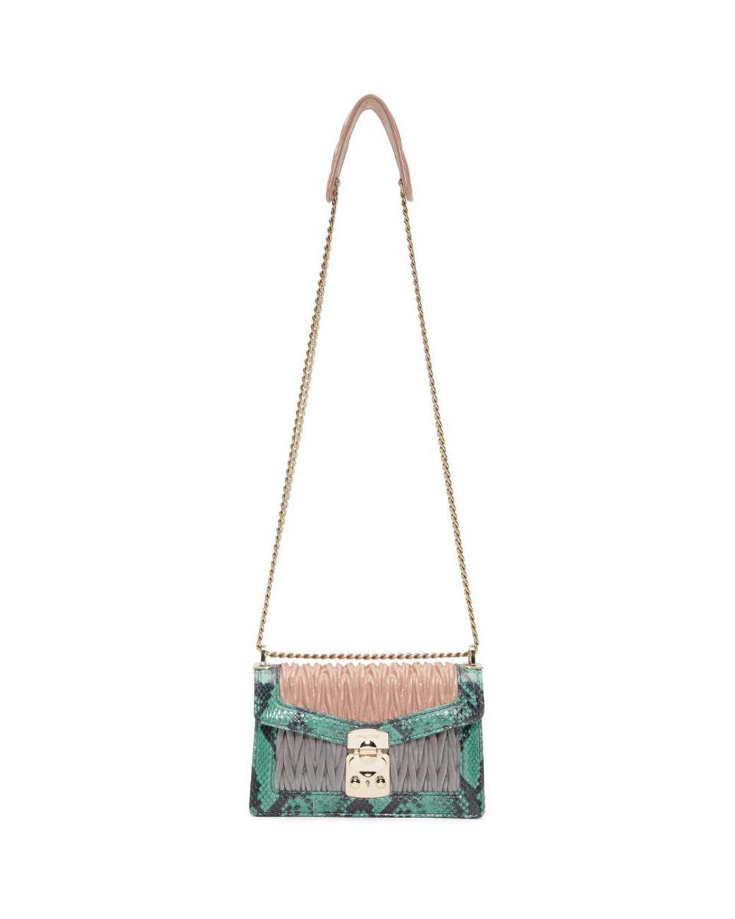 f4edd56ef7a6 Miu Miu Pink And Green Ayers Miu Confidential Bag in Pink - Lyst