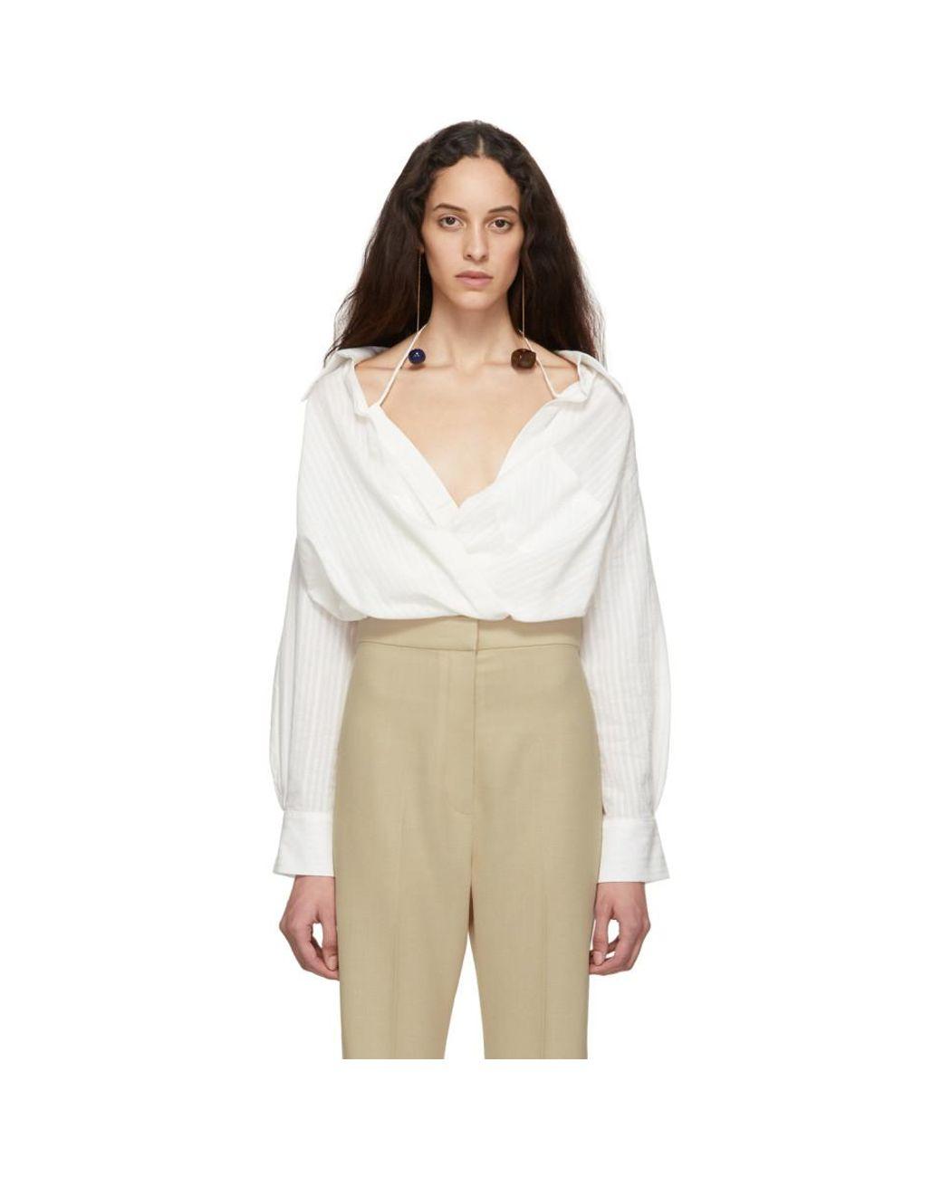 579f69c2746 Jacquemus Off-white La Chemise Siena Shirt in White - Lyst