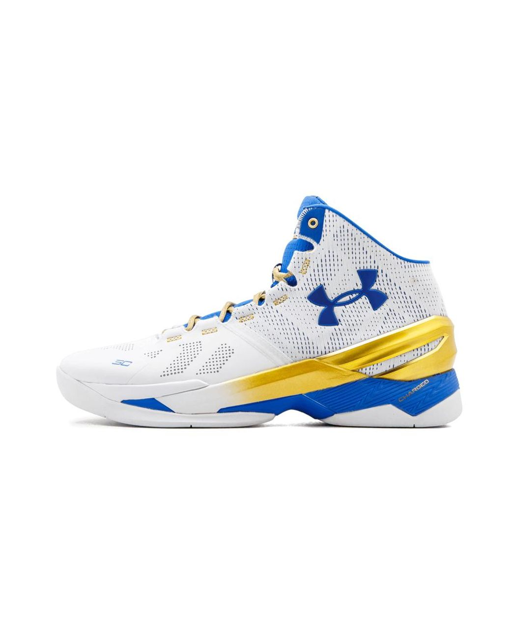 new arrival e4c5c 12384 Men's Blue Ua Curry 2 'gold Rings' - Size 11
