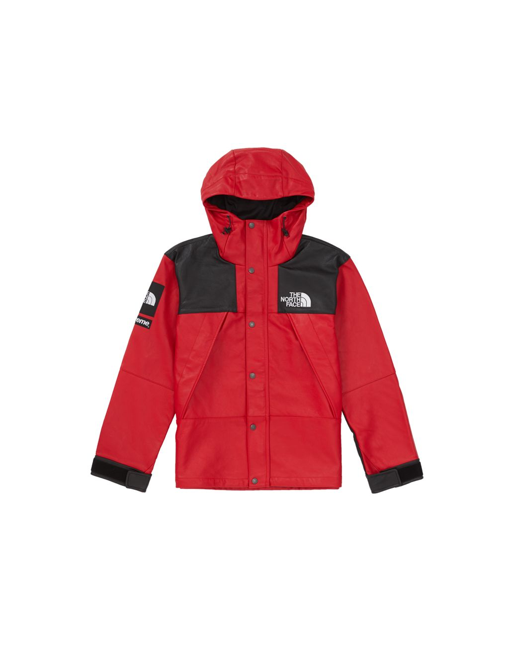 b60ecdf3 Supreme The North Face Leather Mountain Parka Red in Red for Men - Lyst