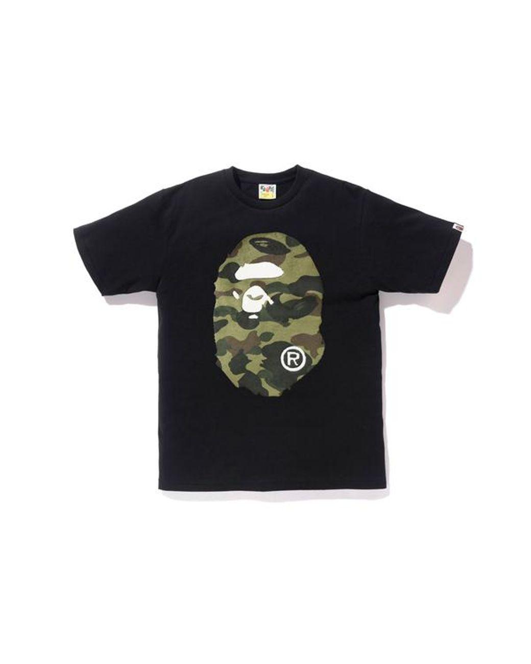 4fd64284 A Bathing Ape Boa 1st Camo Big Ape Head Tee Black/green in Black for Men -  Lyst