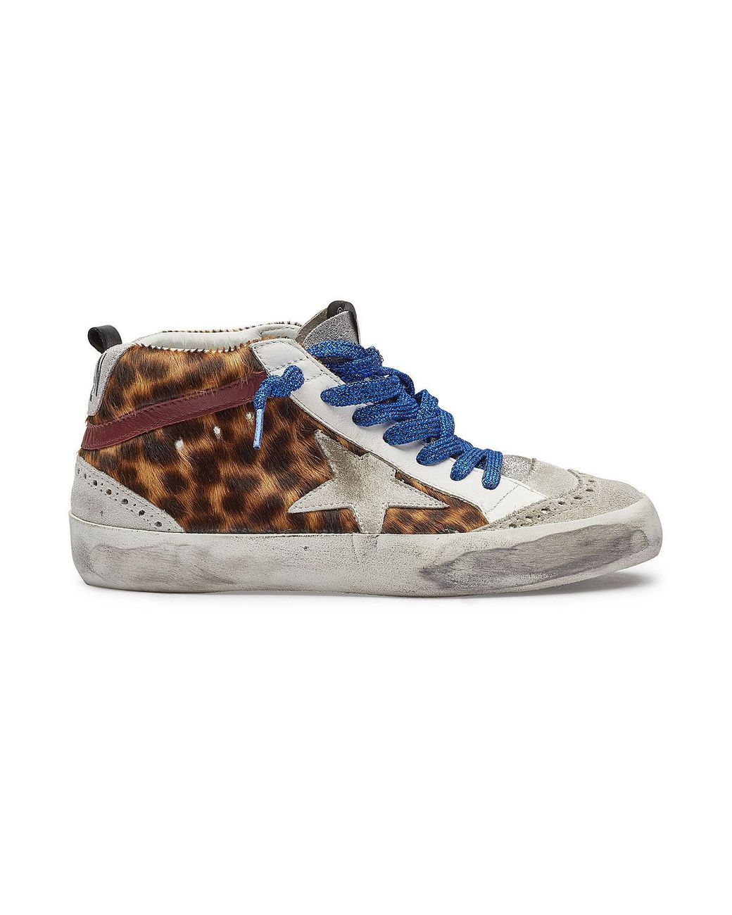 a84062cabad5 golden goose deluxe brand women s blue mid star trainers with leather