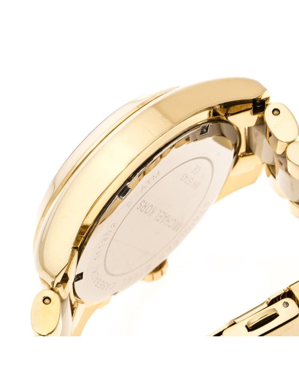 bac0ff72a Michael Kors Silver White Yellow Gold Plated Steel Ceramic Bradshaw Mk5743  Women's Wristwatch 43 Mm in Metallic - Lyst
