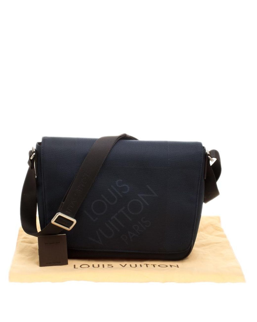 2c0a8b4a9c3b Louis Vuitton Blue dark Brown Damier Canvas Geant Messenger Bag in Blue for  Men - Lyst
