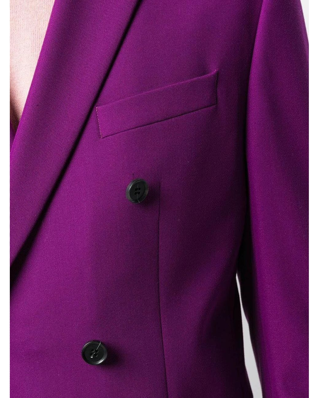 e0a25776b35c CALVIN KLEIN 205W39NYC Double-breasted Blazer in Purple for Men - Lyst