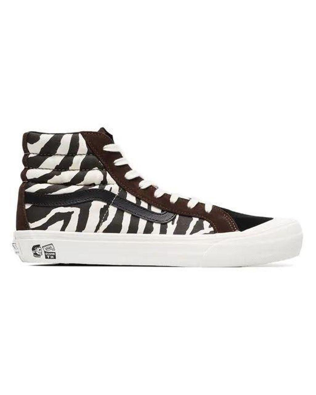 daac42d782 Vans Brown And White Vault X Taka Hayashi Zebra Print Sneakers in ...