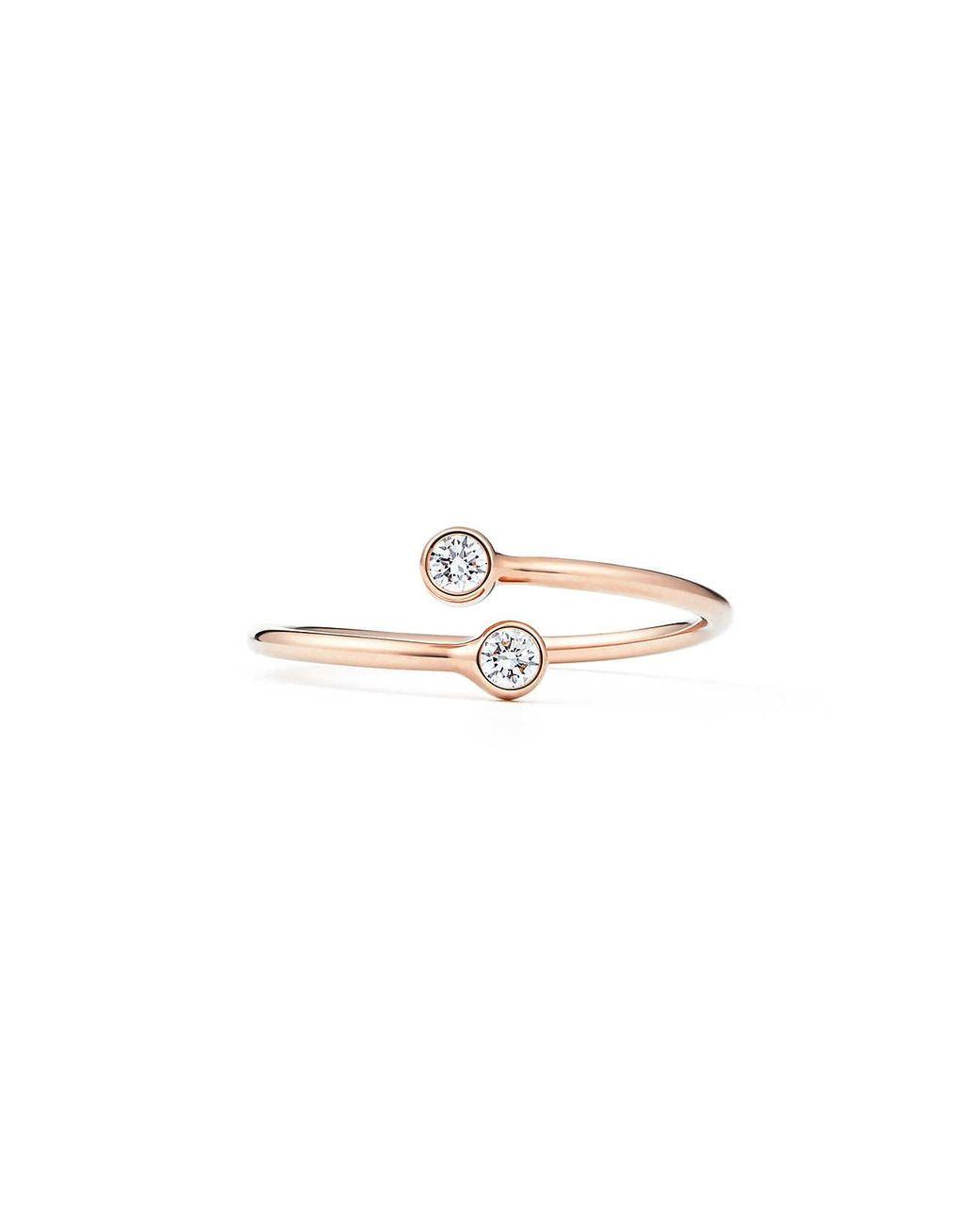 adadfb8f5 Tiffany & Co. Diamond Hoop Ring in Metallic - Lyst