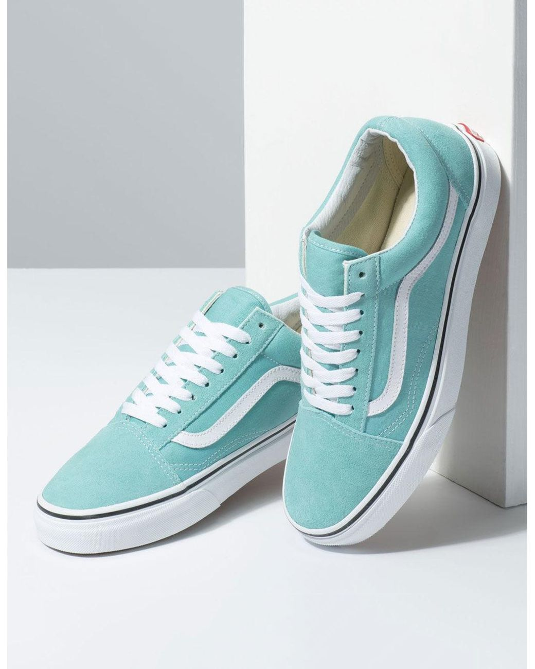 22dfe08beb1 Vans Old Skool Aqua Haze & True White Shoes - Lyst
