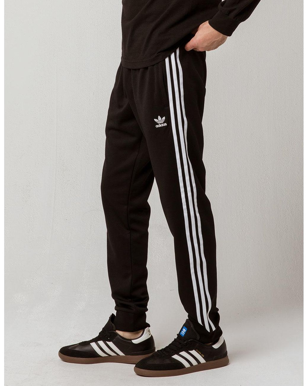 b3dbc40979f0 Lyst - adidas Originals Side Stripe Mens Track Pants in Black for Men