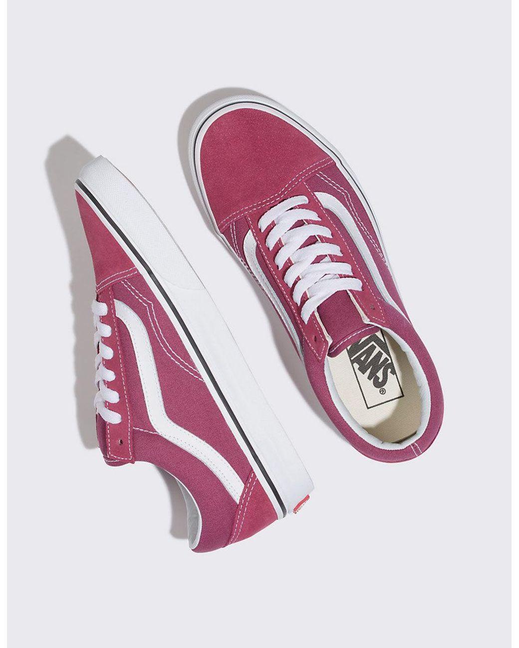 93c6dc26b586cc Lyst - Vans Old Skool Dry Rose   True White Womens Shoes - Save 31%