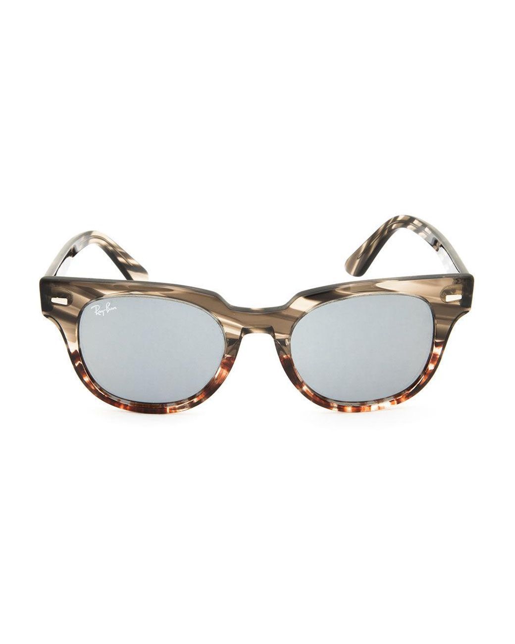 d0c108f2ae Ray-Ban Meteor Striped Havana Striped Gray Gradient Brown Sunglasses in  Brown for Men - Lyst
