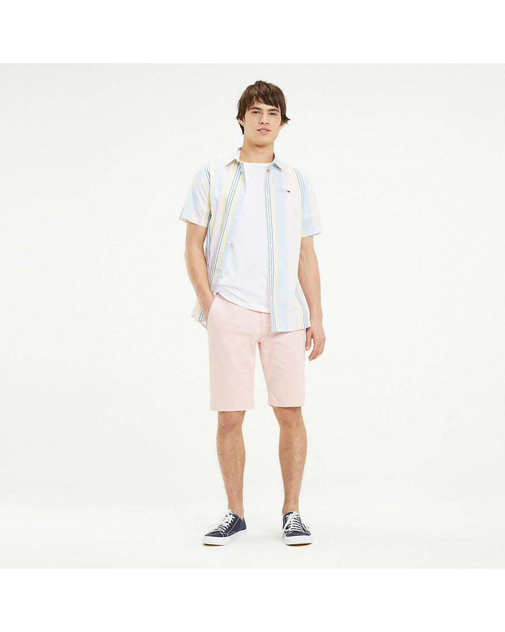 e7e8d485 Tommy Hilfiger Essential Chino Shorts in Pink for Men - Lyst