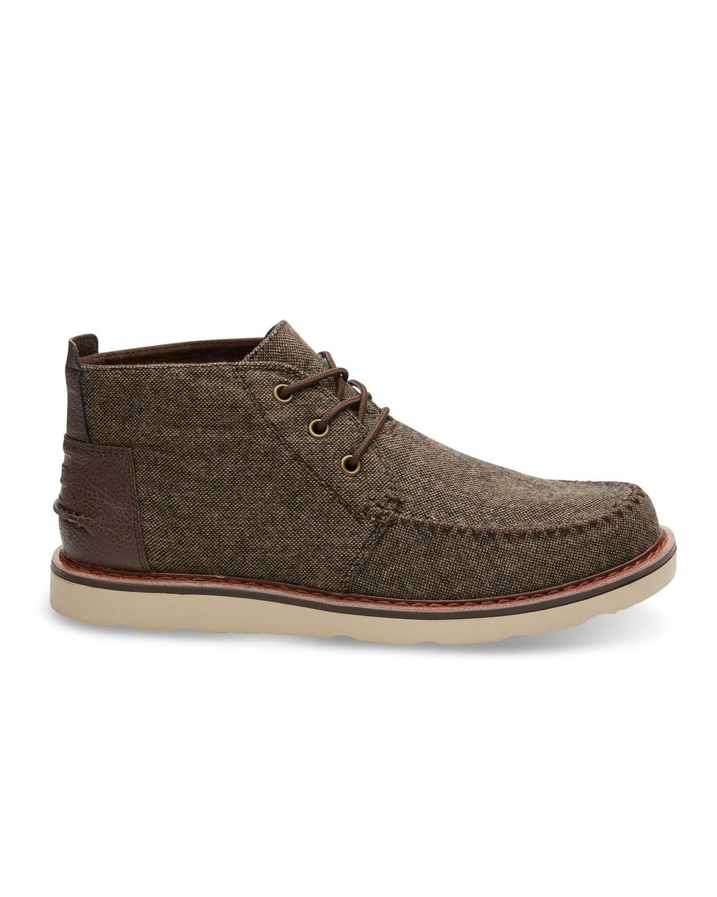 f07f9c3e13d TOMS Chocolate Brown Brushed Wool Men s Chukka Boots in Brown for Men -  Save 30% - Lyst