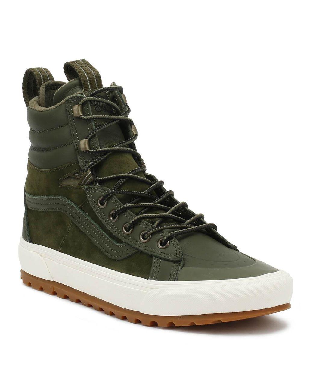 b5312a892395eb Lyst - Vans Sk8-hi Mte Dx Grape Leaf Green Boots in Green for Men
