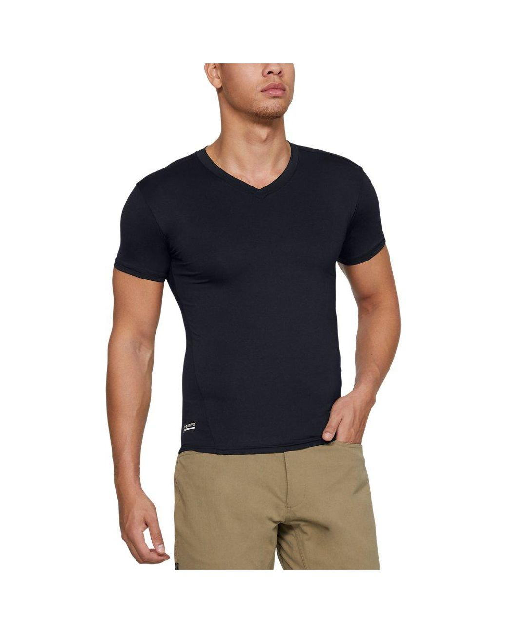 ca61e885060a Under Armour Men's Tactical Heatgear Compression V-neck T-shirt in Black  for Men - Lyst
