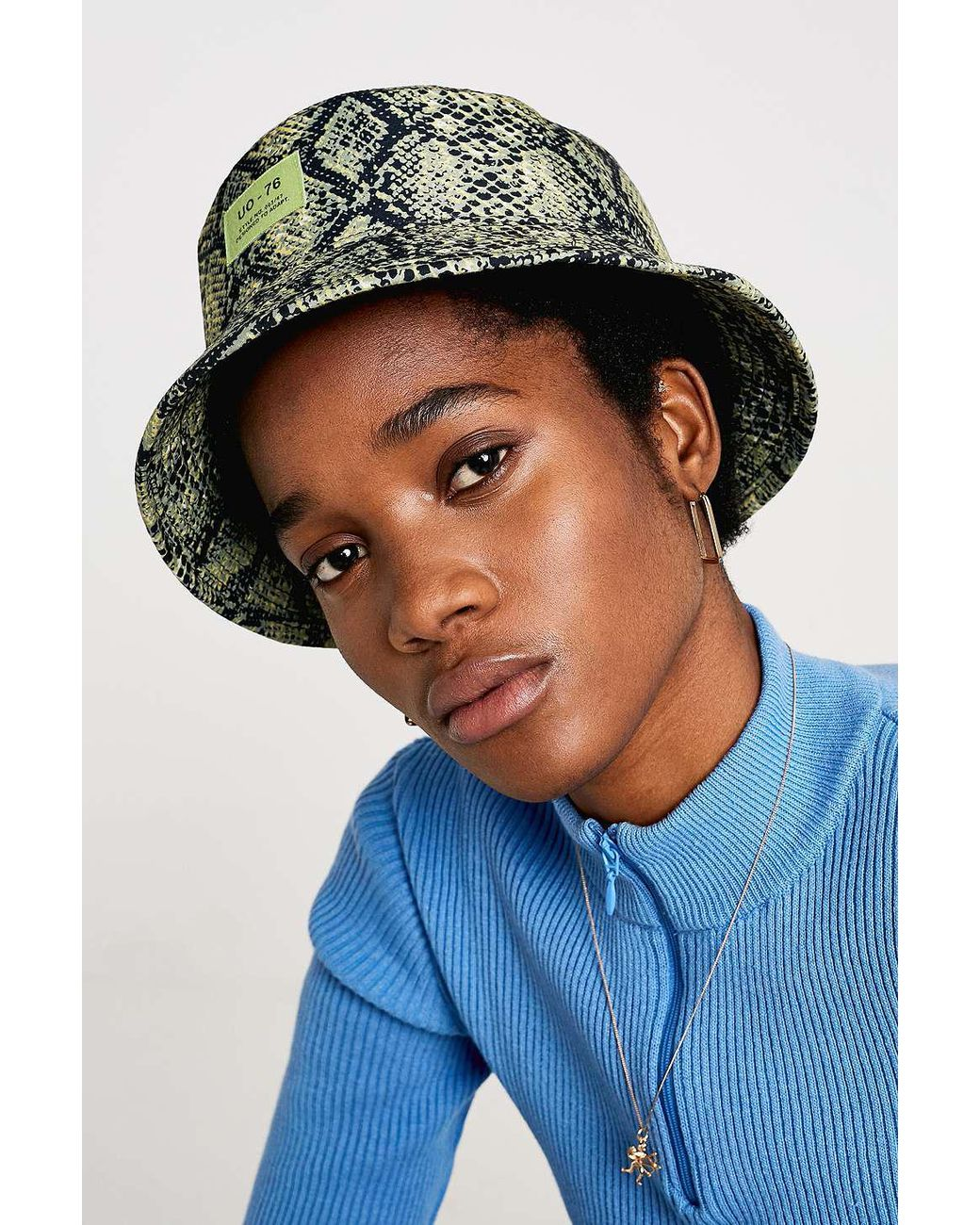 4d08216459e Urban Outfitters Uo Snake Bucket Hat - Womens All in Green - Lyst