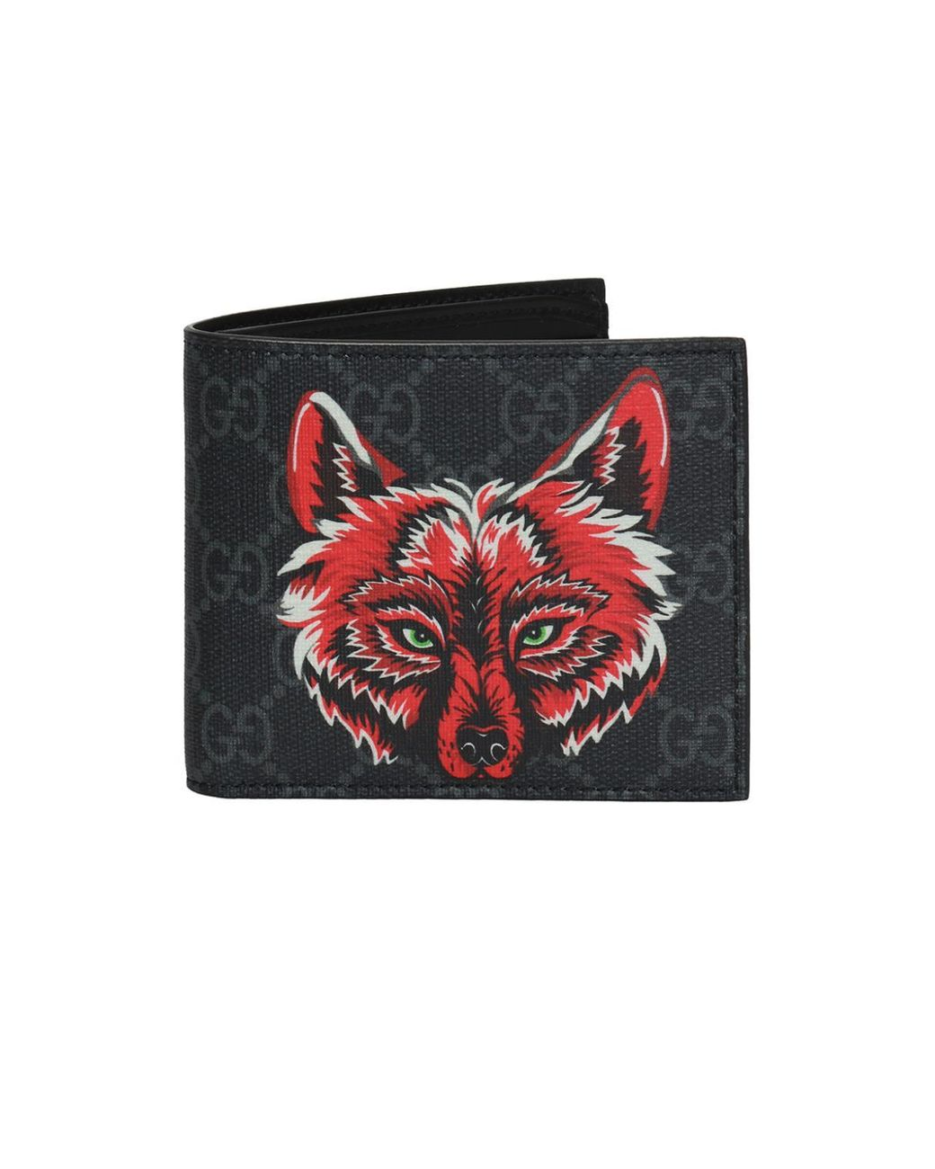 4858d8dc912 Gucci Wolf Head Motif Wallet in Black for Men - Lyst
