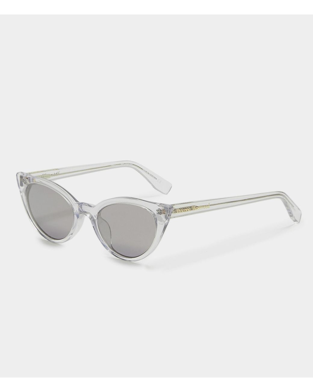 6cc4714f7c5 Vivienne Westwood Clear Cat-eye Sunglasses in Gray - Lyst