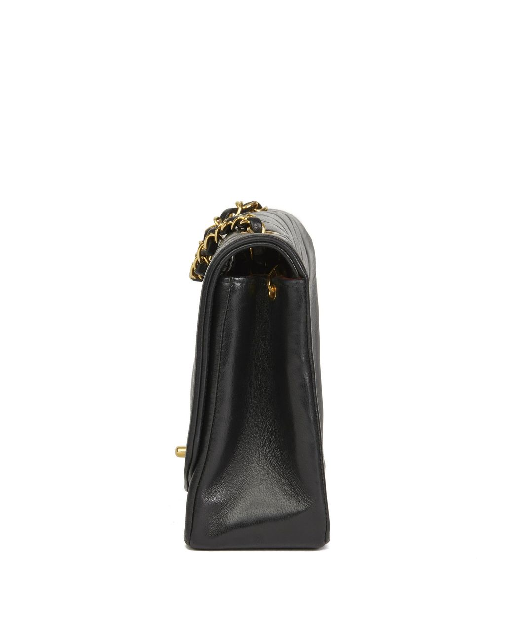 fc80edbdf791 Lyst - Chanel Black Quilted Lambskin Vintage Medium Diana Classic Single  Flap Bag in Black