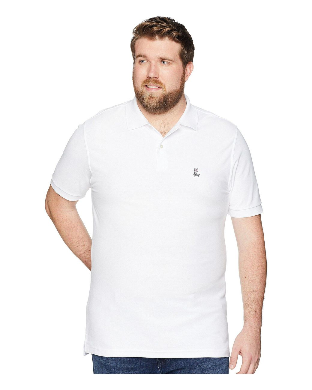5dab8f96 Lyst - Psycho Bunny Big And Tall Classic Polo (navy) Men's Clothing in White  for Men