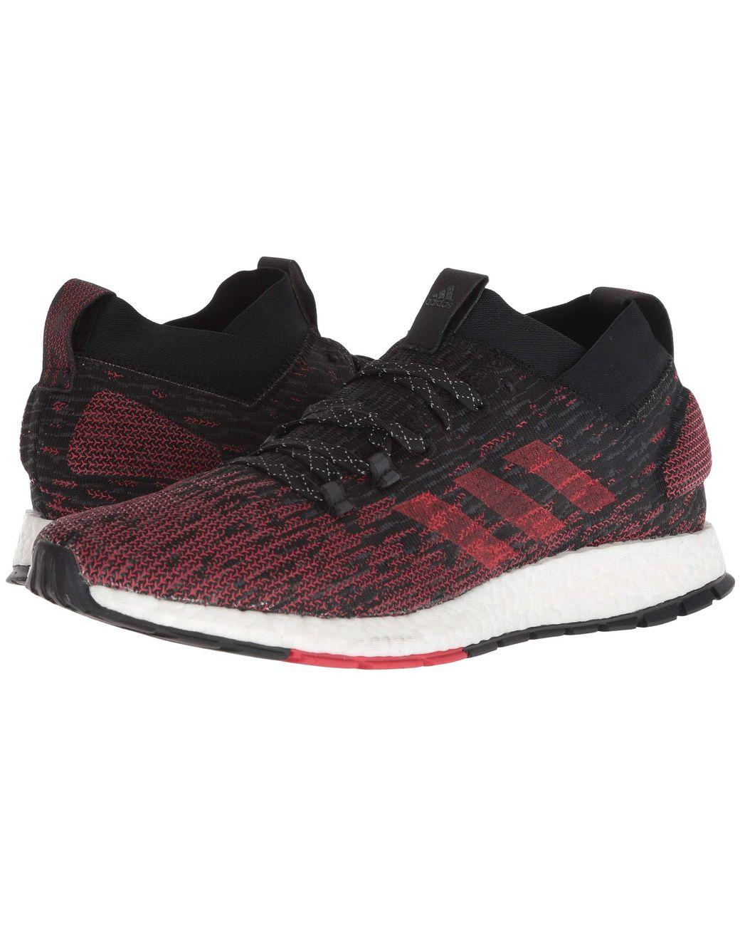 1dd945025 Lyst - adidas Originals Pureboost Rbl (carbon core Black active Red) Men s  Running Shoes for Men