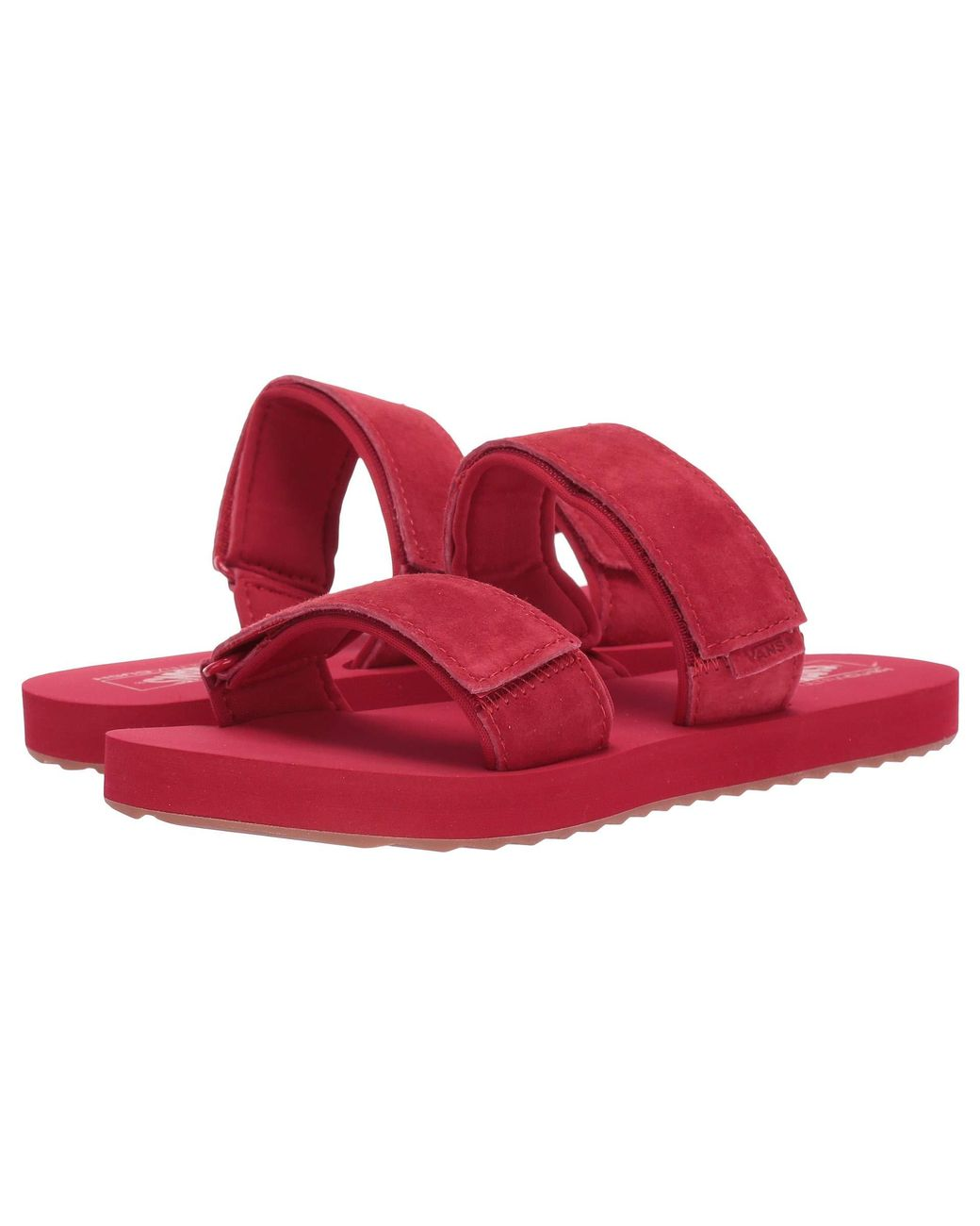 2d5218ff043f Lyst - Vans Cayucas Slide ((suede) Tango Red) Women s Shoes in Red