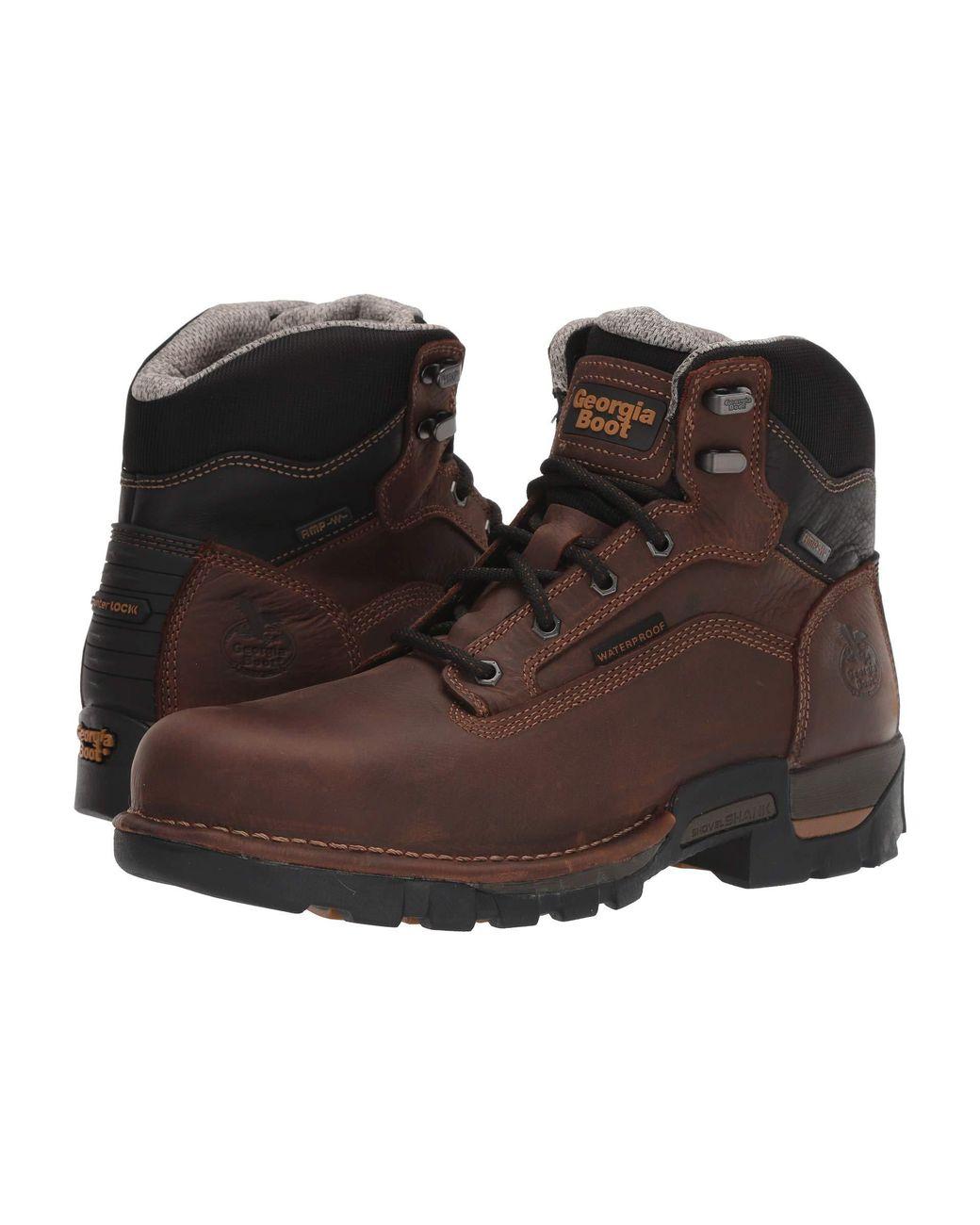 db1210a8675 Men's Brown 6 Eagle One Steel Toe Waterproof
