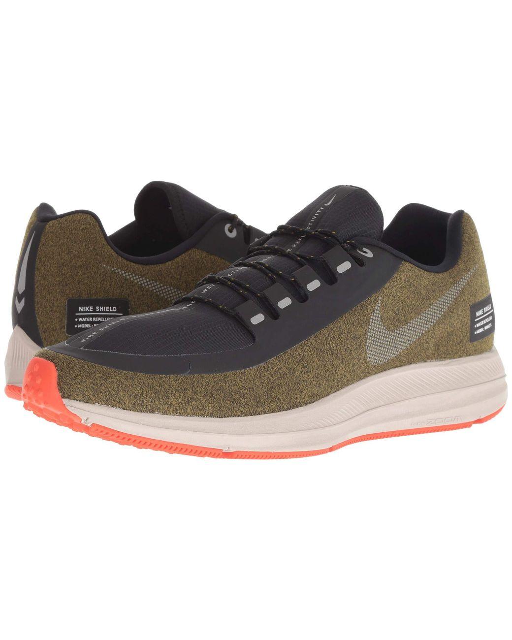 ae65ff63fe253 Lyst - Nike Air Zoom Winflo 5 Run Shield (olive Flak metallic Silver string)  Men s Running Shoes in Metallic for Men
