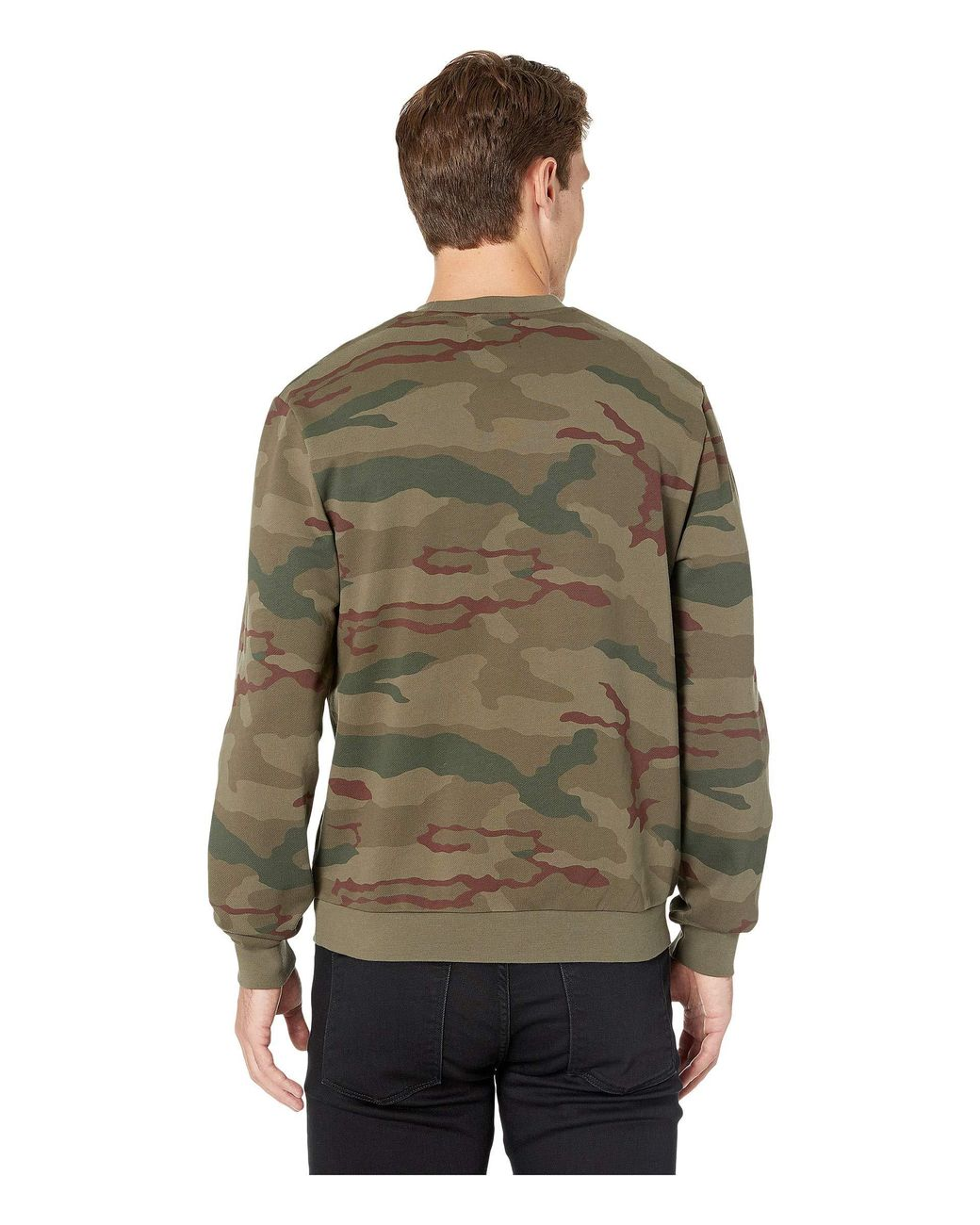 e5b0d6d74 Fred Perry Camouflage Sweatshirt (iris Tundra Camo) Men s Clothing in Green  for Men - Lyst