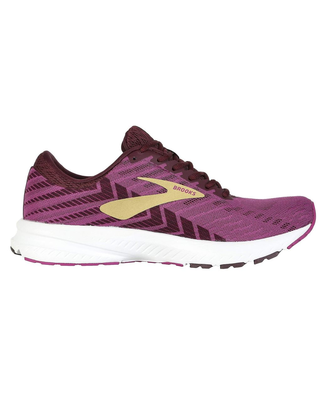 a83484d195d Lyst - Brooks Launch 6 (black primer iron Gate) Women s Running Shoes in  Purple - Save 1%