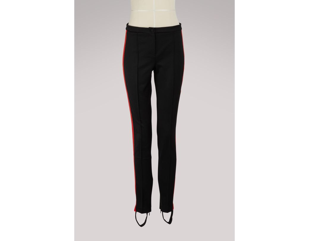 079e738ed07 Lyst - Gucci Technical Jersey Stirrup legging With Crystals in Black
