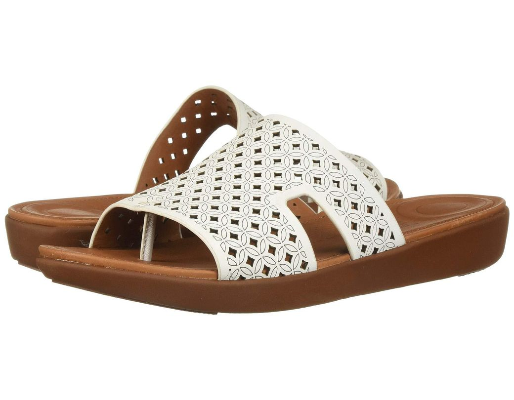 07241c941ac6 Lyst - Fitflop H-bar Slide Sandals - Latticed Leather in Brown ...