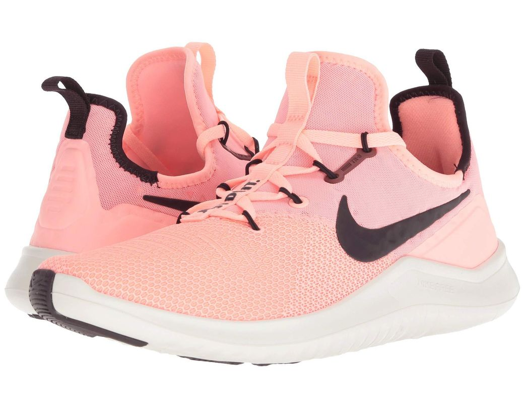 39ca5ddd9183 Lyst - Nike Free Tr 8 Mesh Sneaker in Pink - Save 40%