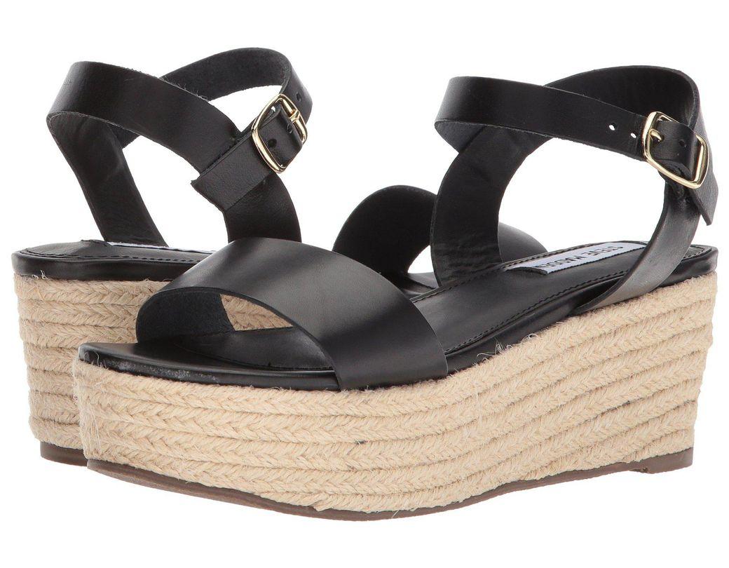 4e74393e5098 Lyst - Steve Madden Busy Sandal in Black - Save 32%
