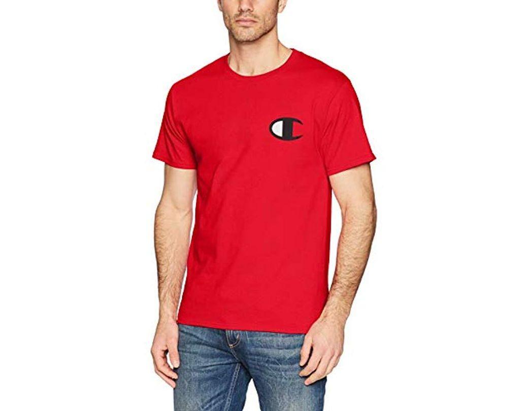 8e54d52e Lyst - Champion Classic Jersey Script T-shirt in Red for Men